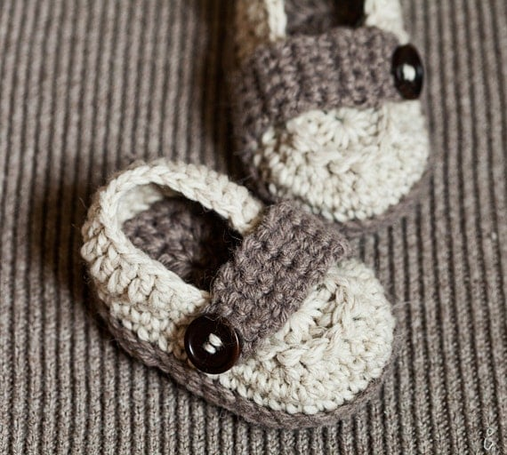 Instant download - Crochet PATTERN baby booties (pdf file) - Baby Loafers