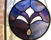 Beveled Amethyst Stain Glass