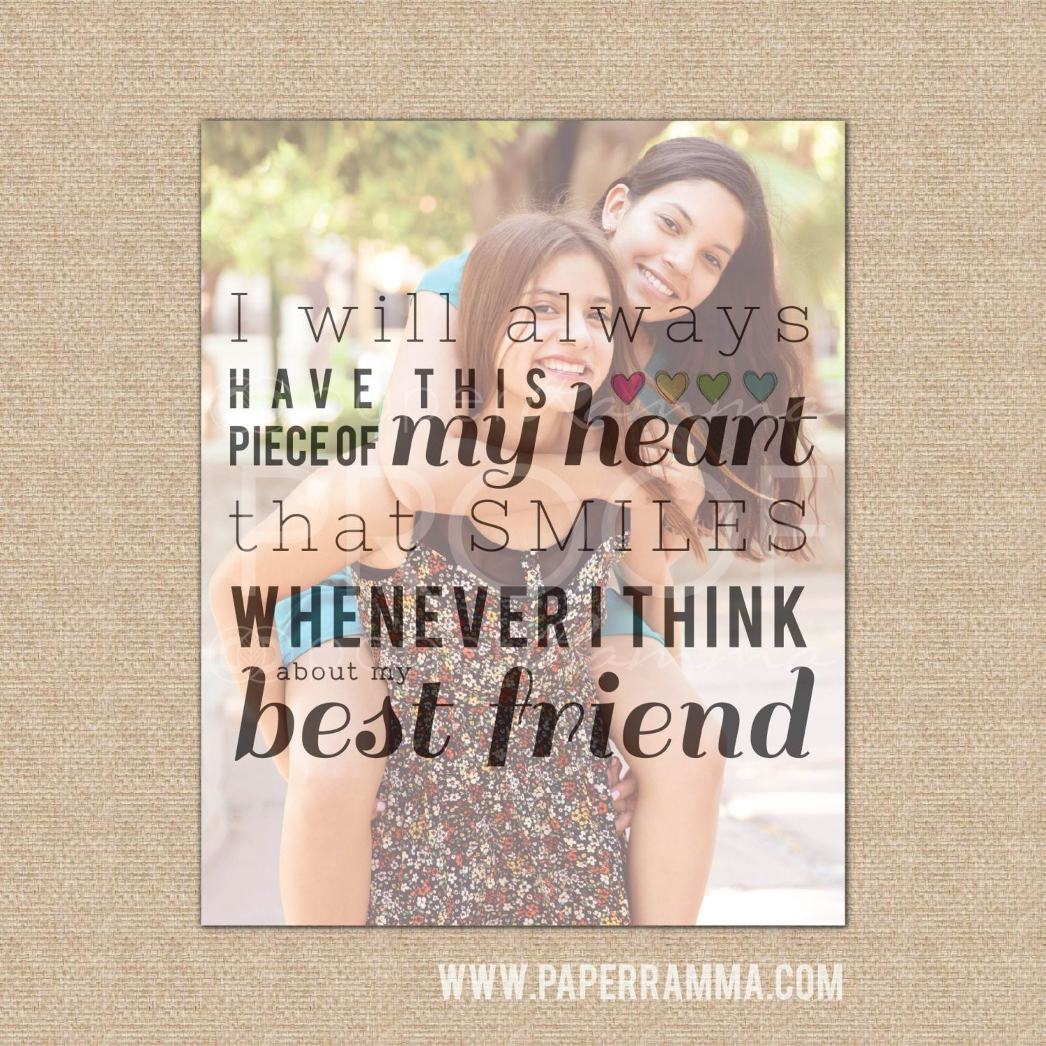 Quotes About Best Friends Gift : Best friend photo quote birthday gift