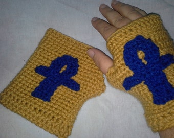 Ankh Fingerless Gloves
