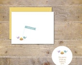 Baby Shower Thank You Cards . Baby Thank You Cards .  Bird Nest . Thank You Notes Baby  . Chicks . Gender Neutral - Our Little Nest