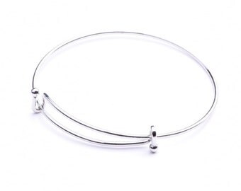 3 Wire Bangles, Choose from silver, C1026, Made in USA