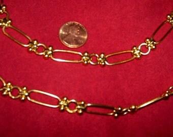 Gold Chain Belt Necklace Versatile Anne Klein Vintage Designer Costume Jewelry