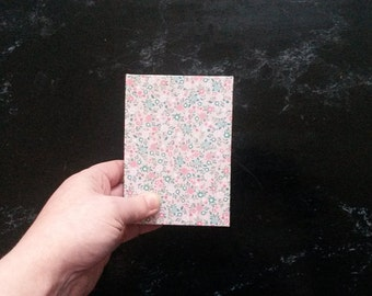 Hand-bound A7 Pink Floral notebook