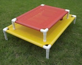 """Outside Dog Cot, Custom Made Dog Cots, Dog Beds For Camping RV""""S, Cat Bed, Pet Beds, 8 Mesh Colors 22x30x6 Up To 80 Pounds."""