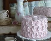 Fake Rosette Cake. Jumbo Fake Cake. Smash Cake Prop, First Birthday Photo Prop. Birthday Decor. Shabby Chic Decor. 12 Legs Design.