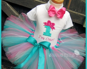 CUSTOM - Birthday Bow with Number,Party Outfit,Tutu Set, Personalized, perfect for the Birthday Girl in Sizes 1yr thru 5yrs