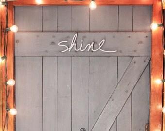 "Salvaged word ""shine"""