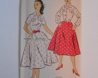 Vintage 50s Shirtwaist Dress Pattern New York 1178 Size 17 Bust 35 UNCUT