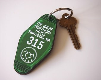 PRE-ORDER Twin Peaks The Great Northern Hotel Room Key Ring - Keychain - Laser Cut Wood
