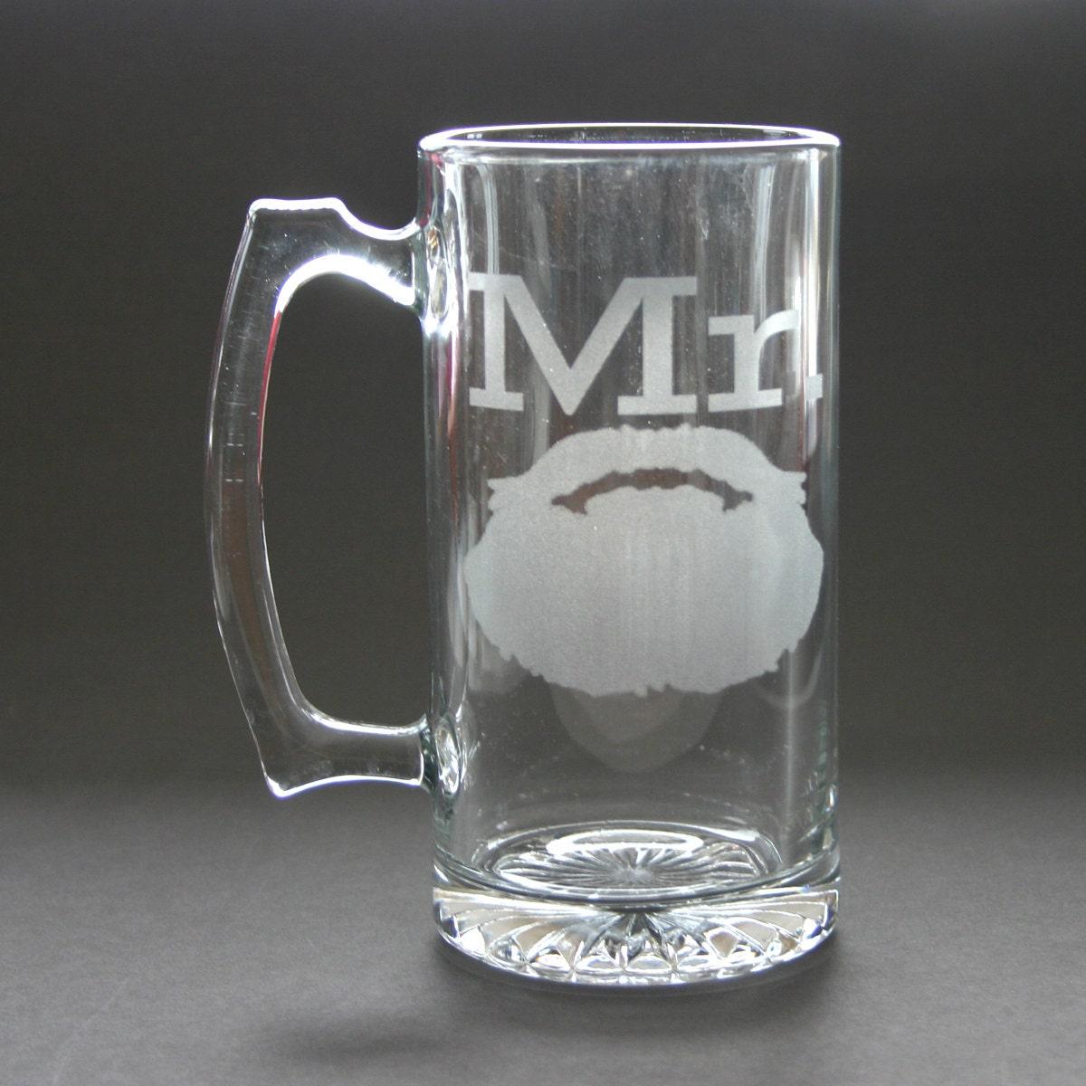 Mr Beard Engraved Beer Mug Weddings His Engraved Stein