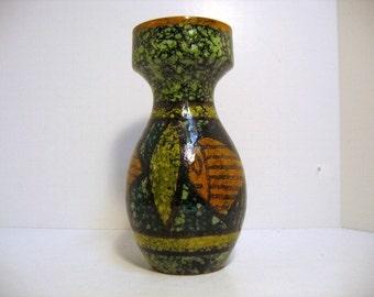 Vintage Italy Fish Vase Mid Century Bitossi Raymor Era Mid Century Abstract Vase