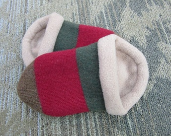 Thick Wool Sweater Slippers with Light Brown Lining -  Women's Small
