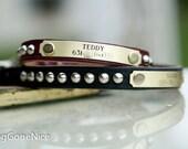 Small Leather Dog Collar // Leather Dog Collar // Studded Leather Collar // Personalized Dog Collar // Leather Collar // Dog Collar