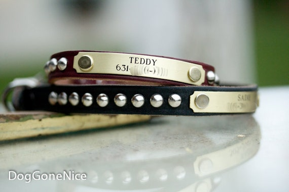 Small Leather Dog Collar // Leather Dog Collar // Studded Leather Collar // Personalized Dog Collar // Leather Collar // Dog Collar
