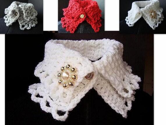 CROCHET PATTERN scarf cowl num. 78 Crochet collar neckwarmer. Make it in 45 minutes. PDF