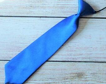 Blue Necktie, boys necktie, infant boy tie, first birthday tie,wedding necktie, photo prop neck tie, toddler kids