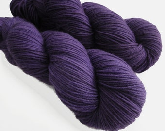 Sock yarn, cashmere superwash merino nylon blend, hand dyed SNORGLE , 435 yds.