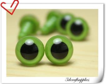 16 mm Green  OLIVE   Safety eye amigurumi eye doll eyes cat eye 12  pieces EA14