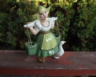FREE SHIPPING vintage girl figurine