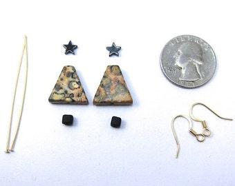 Leopardskin Jasper Gemstone Christmas Tree Earring Kit