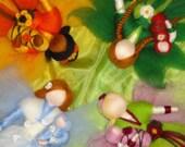 Special order for yellowcrayon, Four Season Fairies, needle felted, nature table, Waldorf, Seasonal table, Flower Fairies,