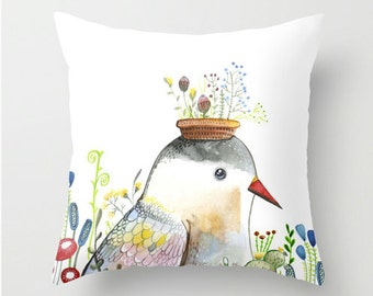 Cushion Cover Bird Pillow Cover Throw Floral Modern look for your room