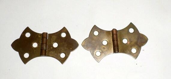 vintage brass hinges decorative gothic hinges salvaged hardware hinges old metal hinges - Decorative Hinges