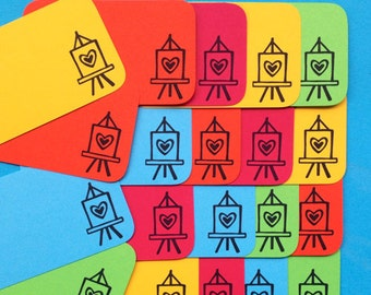 Art Easel Stack Pack (20 mini doodle cards)