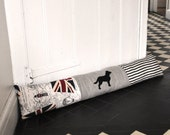Spaniel Draught Excluder - Union Jack Map