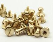 12 Sets of Raw Brass Rivet Stud, ScrewBack Round Head Stud 11x9 (B0097,B0098)