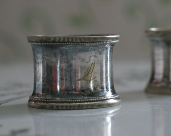 Vintage Numbered Silver Plate Napkin Rings 4 5 6 10 12 Total of 5