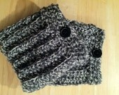 Boot cuffs tweed black white  women fashion winter fall for her