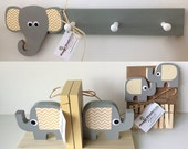 Elephant Nursery Set, Elephant Decor Set, Safari Nursery, Kids Decor, eco friendly