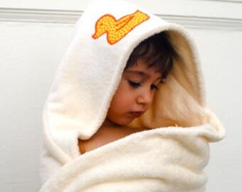 Personalized Baby Towel- ORGANIC Bath Towel- Hooded Towel- Custom
