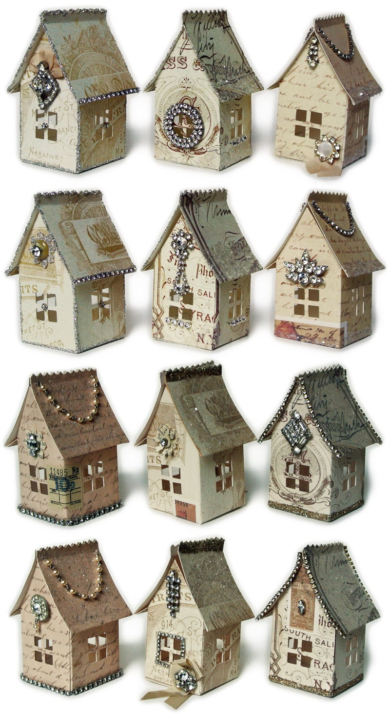 Paper house luminaries printable template graphics and for House pattern