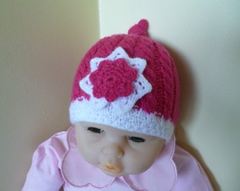 Baby Girl Beanie, Knitted Newborn Hat, Baby Shower Gift, Take Home Hat, Winter Baby Beanie, Winter Baby Hat, Warm Baby Hat, Clothing Newborn