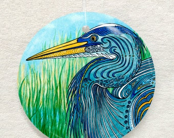 Great Blue Heron Ornament and Suncatcher