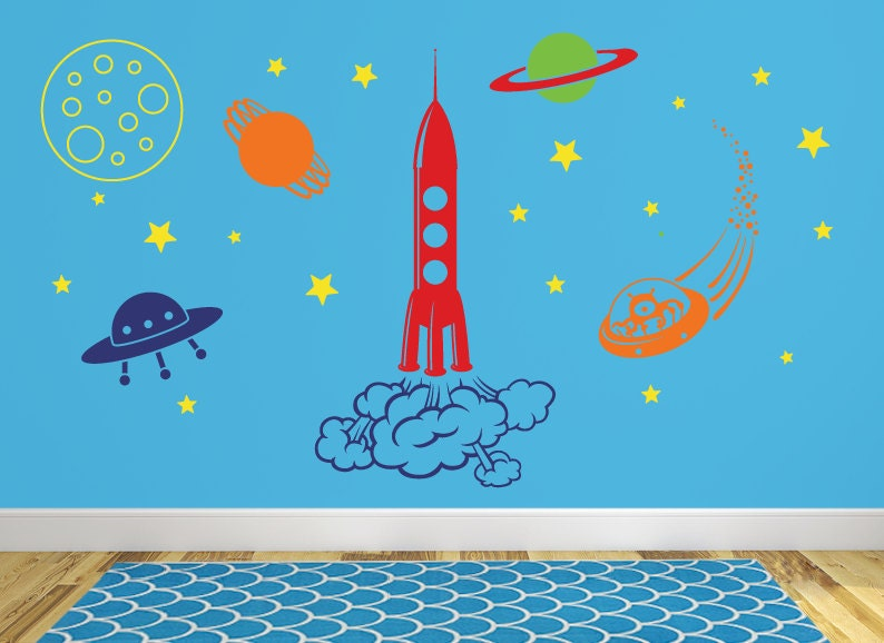 Outer space wall decal db356 for Wall decor outer space