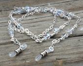 Celtic Eyeglass Chain Necklace. Swarovski Crystal Eyeglass Holder.