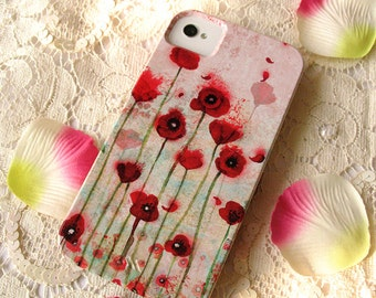 Smartphone case - iPhone - Samsung Galaxy - Huawei - case - Poppies
