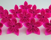 12 Solid Color Kusudama Origami Flowers