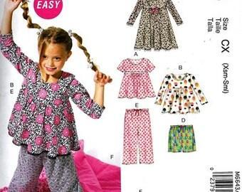 GIRLS CLOTHEST PATTERN / Make Child Tops - Dress - Shorts - Pants  / Sleeping Bag / Size 3-6 or 7-14