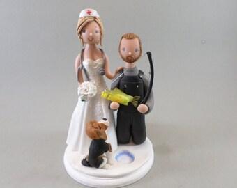 Custom Made Ice Fishing Wedding Cake Topper