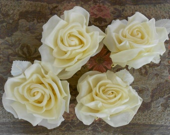 Pale Yellow Silk Roses