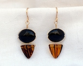 Black Onyx and Glass Wire...