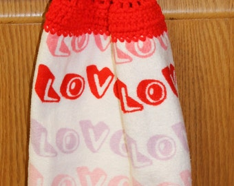 Love Valentine Dish Towel