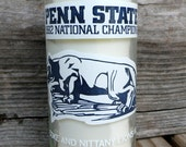 PENN STATE NITTANY Lions 1982 Upcycled Vintage Coke Bottle Candle