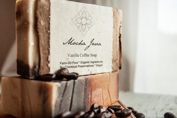 Mocha Java Organic Soap, Palm Oil Free, Rain Forest Friendly, Moisturizing Formula