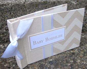 Ultrasound baby photo album -5x7 Chevron brag book choose your own colors